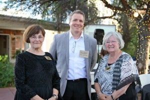 Left to right: Sue Chambasian, Paul Chinnock, and Peg O'Connell, Chair of the Event on far right